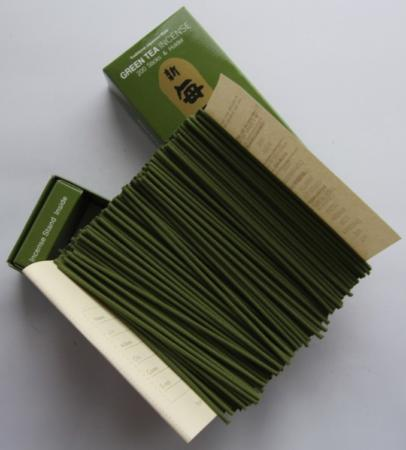 Morning Star Green Tea Incense | Box of 200 Sticks & Holder by Nippon Kodo