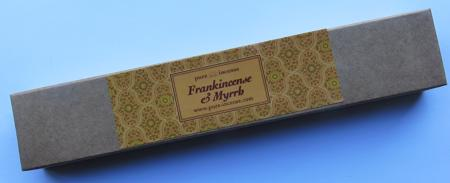 Frankincense & Myrrh Indian Incense | Pure Incense Absolute | 50 gram box