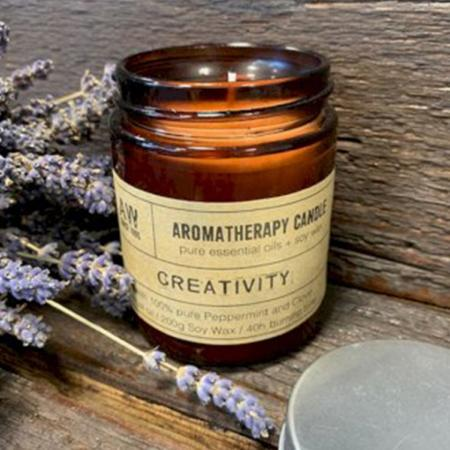 Aromatherapy Soy Wax Candle | Peppermint & Clove (Creativity) | Pure & Vegan