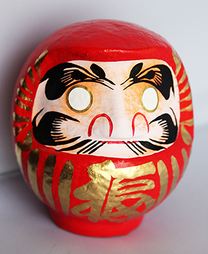 Daruma Japanese Doll for Goal encouragement and achievement | sold by Vectis Karma Online Incense Shop