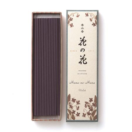 Japanese Incense | Hana no Hana | Violet fragrance | 40 Longer Sticks
