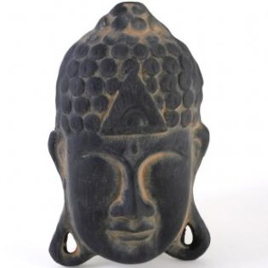 Terracotta Buddha Wall Plaque
