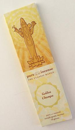 Golden Champa Indian Incense | Pure Incense Classic | 10 gram pack