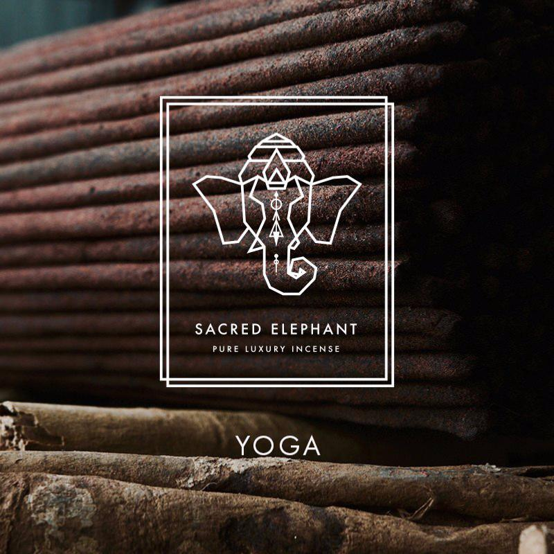 Yoga Inspired Selection of Indian Incense | 4 packs of 10 sticks by Sacred Elephant