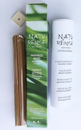 Naturense Japanese Incense | Inspired Mind | 40 Sticks & holder | by Nippon Kodo