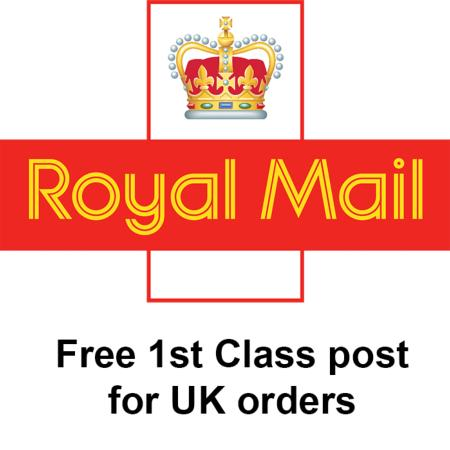 Free Royal Mail 1st Class postage for UK customers - and packaging update