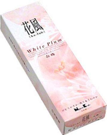 Japanese Incense | Nippon Kodo | Ka-fuh White Plum | 120 Sticks | Low Smoke
