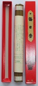 Japanese Incense Sticks | Nippon Kodo | Shin Mainichikoh (Sandalwood) | 80 Long Sticks