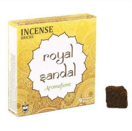 Aromafume Incense Bricks | Royal Sandal fragrance | 9 brick pack