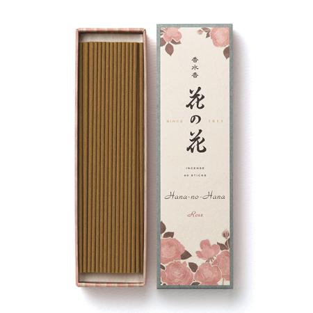 Japanese Incense | Hana no Hana | Rose fragrance | 40 Longer Sticks