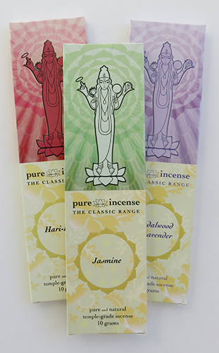 Classic range of Luxury Indian Incense by Pure Incense | sold by Vectis Karma Online Incense Shop