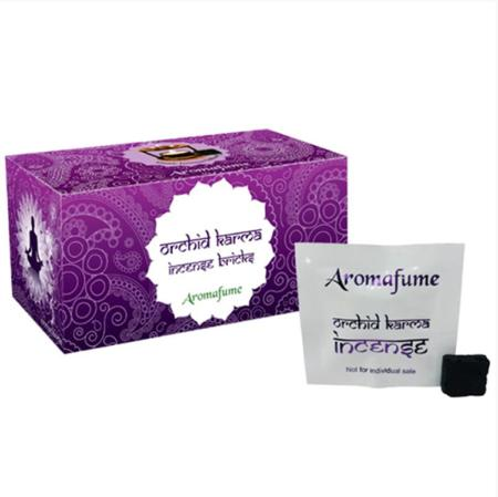 Aromafume Incense Bricks | Orchid Karma fragrance | 20 brick pack