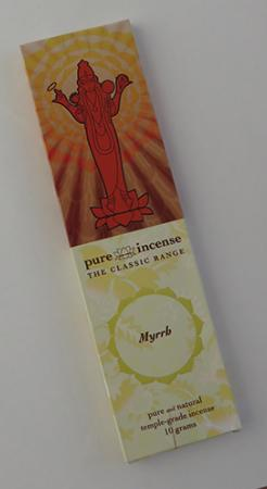 Myrrh Indian Incense | Pure Incense Classic | 10 gram pack