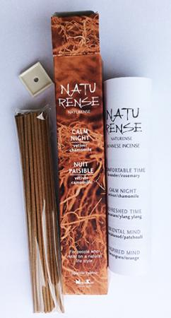 Naturense Japanese Incense | Calm Night | 40 Sticks & holder | by Nippon Kodo