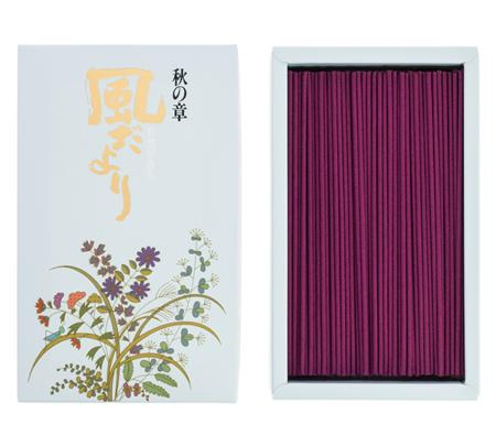 Japanese Incense Sticks | Nippon Kodo | Kazedayori Autumn (Oak Moss) | 360 Boxed | Low Smoke