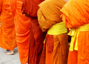 Greeting Card | Buddhist Themed | Monks Collecting Alms | #17 of 20