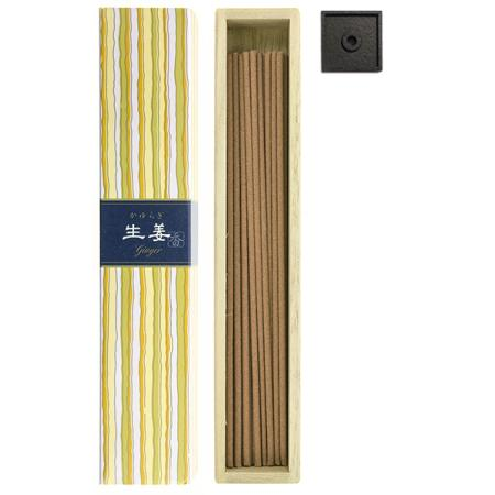 Ginger fragrance Japanese Incense | Kayuragi by Nippon Kodo | Box of 40 Sticks & Holder