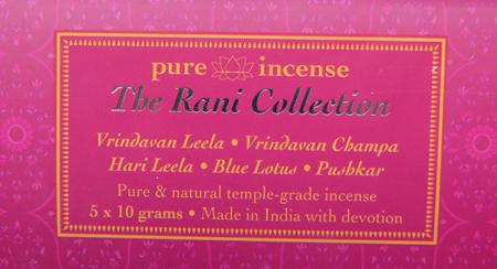 Rani Collection Indian Incense | Pure Incense Absolute | 50 gram Box