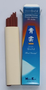 Japanese Incense Sticks | Quality Collection | Seiun Gold Floral Oriental | Nippon Kodo