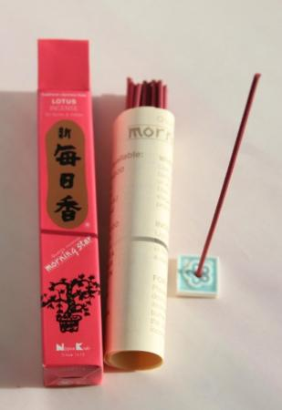 Morning Star Lotus Incense | Box of 50 Sticks & Holder by Nippon Kodo