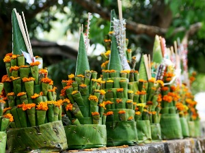Greeting Card | Buddhist Themed | Lao Temple Floral Offering | #18 of 20