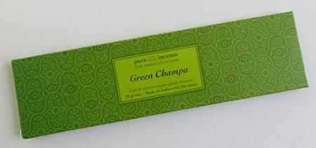 Green Champa Indian Incense | Pure Incense Absolute | 20 gram pack