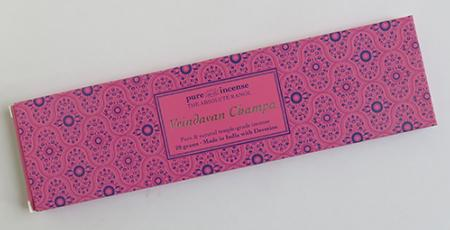 Vrindavan Champa Indian Incense | Pure Incense Absolute | 20 gram pack